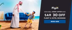 SAR 30 Off on Flyin Bookings