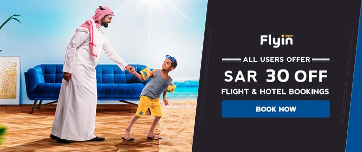 SAR 30 Off on Flyin Bookings