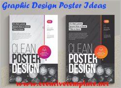 Graphic Design Poster Ideas |Creative Template