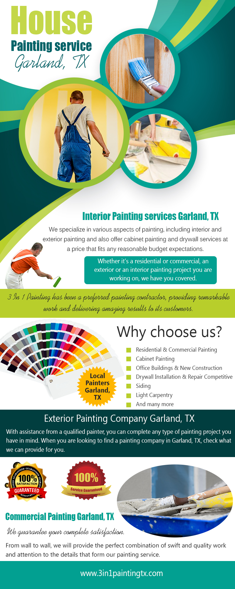 House Painting service Garland, TX|http://3in1paintingtx.com/