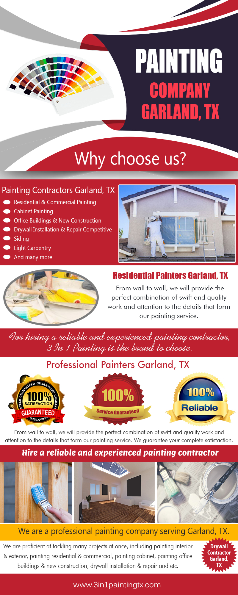 Painting Company Garland, TX|http://3in1paintingtx.com/