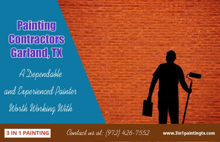 Painting Contractors Garland, TX|http://3in1paintingtx.com/