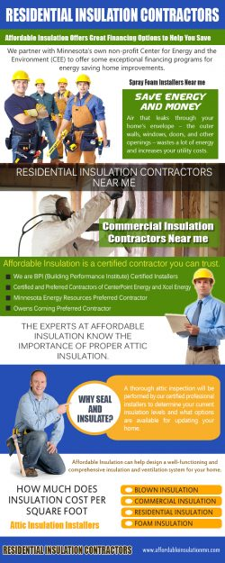 Residential Insulation Contractors | 612 333 7627 | affordableinsulationmn.com