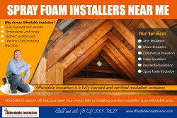 Spray Foam Installers Near me | 612 333 7627 | affordableinsulationmn.com