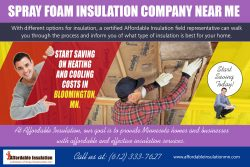 Spray Foam Insulation Company Near me | 612 333 7627 | affordableinsulationmn.com