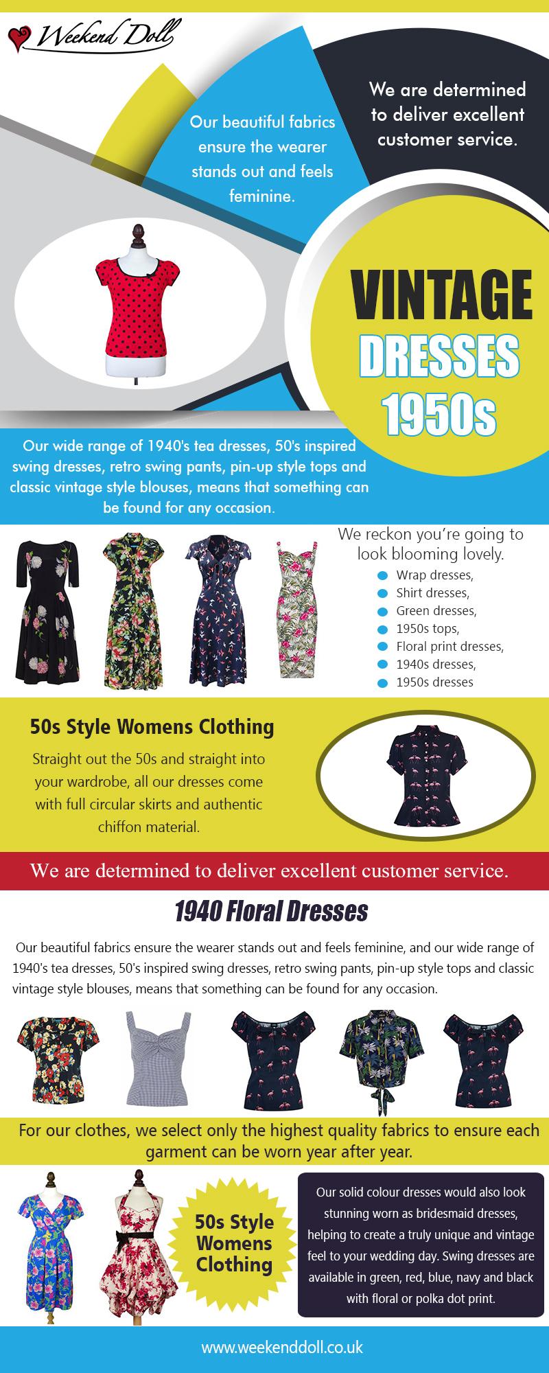 Vintage Dresses 1950s | 2036378223 | weekenddoll.co.uk