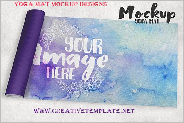 Yoga Mat Mockup Designs 2018 |Creative Template