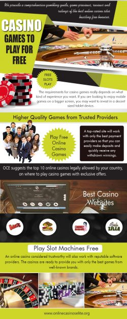 Casino Games to Play for Free | onlinecasinoselite.org