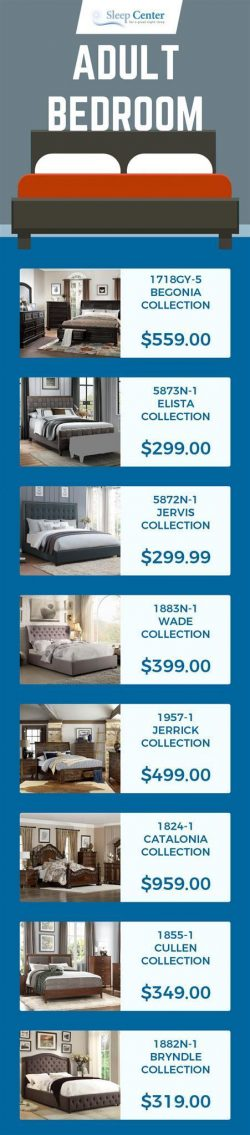 Choose from Sleep Center's Wide Range of Adult Bedroom Furniture in Sacramento
