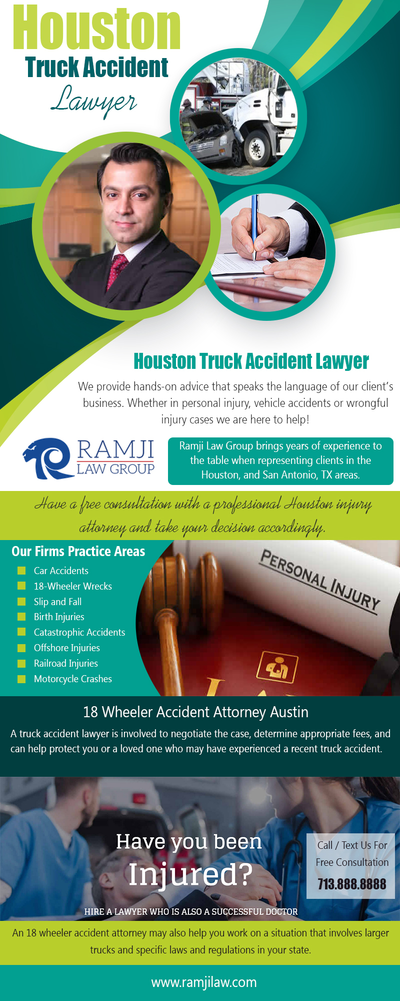 Houston Truck Accident Lawyer|https://www.ramjilaw.com/