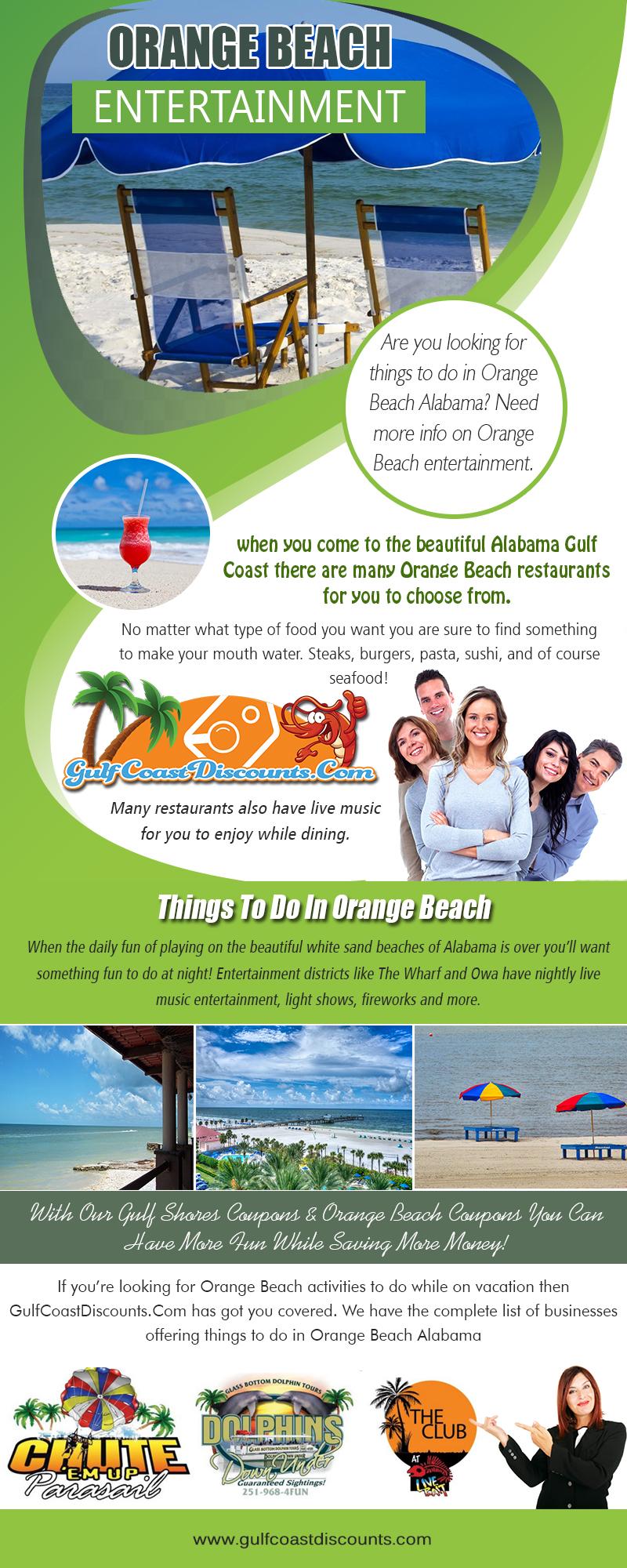Orange Beach Entertainment | Call 251 200 1411 | gulfcoastdiscounts.com