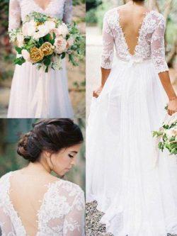 Etuikleider Für Hochzeit Brautkleider Mit Ärmel Chiffon Hochzeitskleider Online