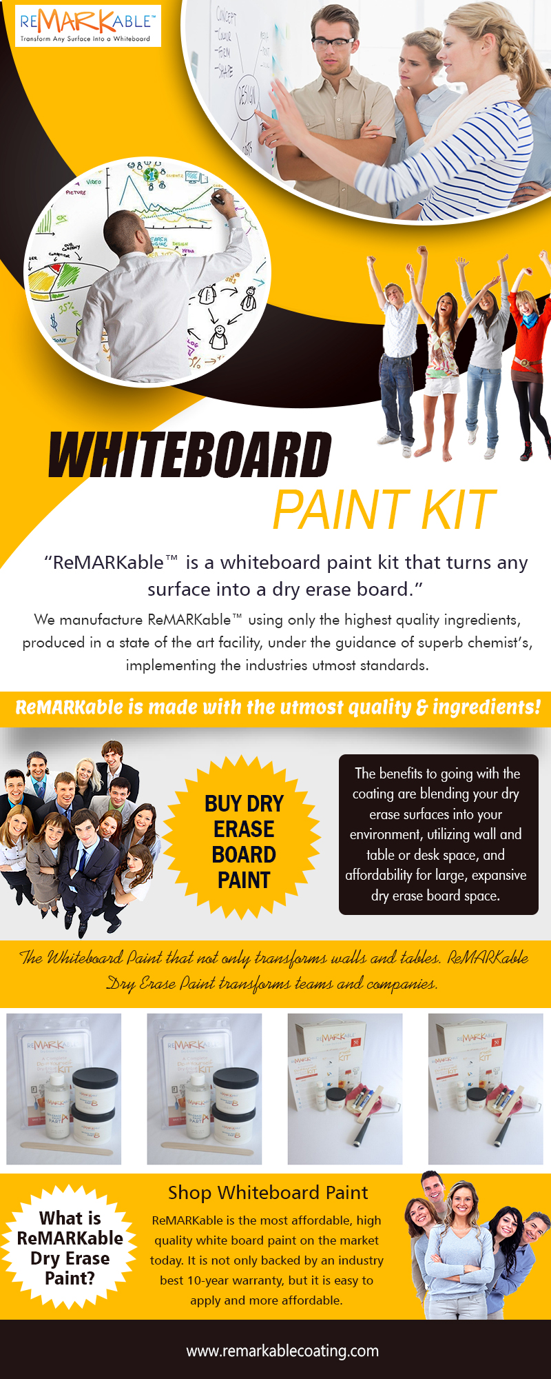 Whiteboard Paint Kit