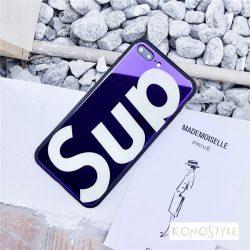 ムラサキ iphoneXケース シュプリーム オシャレ アイホン8携帯カバー 人気 アメリカブランド supreme i ...