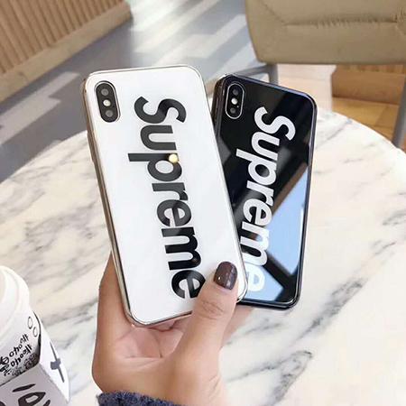 シュプリーム アイフォンテン/テンエス カバー 強化ガラス supreme iphone8/9ケース 鏡面反射 iphone7p ...