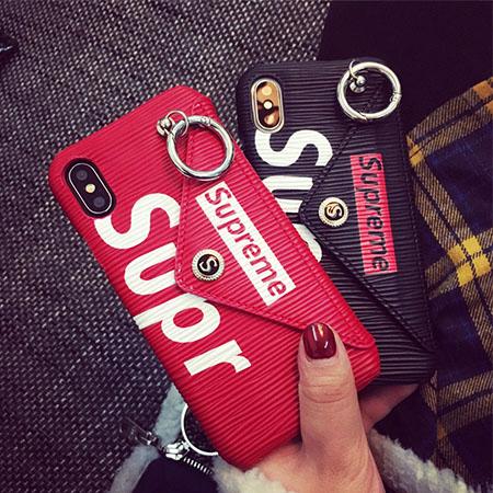 シュプリーム iphoneX/XSplusケース iphonexr/xs MAX ブランドケース カード収納