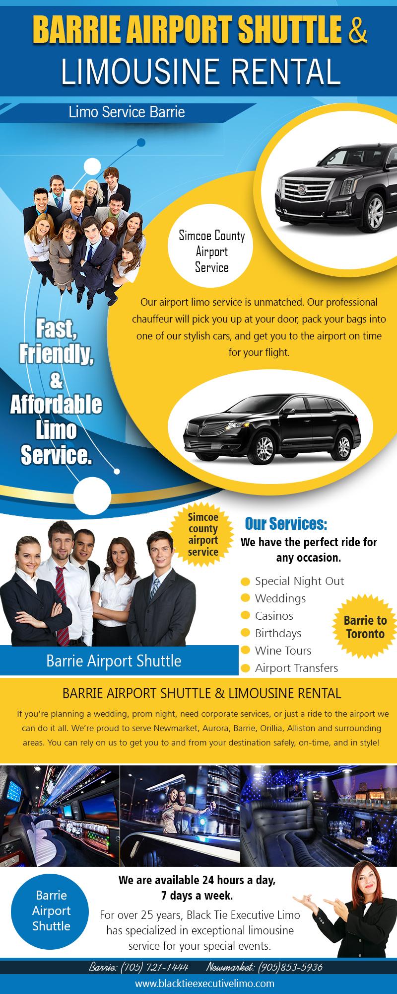 Barrie Limousine | Call – 705-721-1444 | blacktieexecutivelimo.com