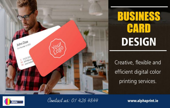 Business Card Design | Call – 01 426 4844 | alphaprint.ie