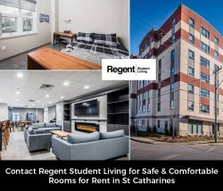 Contact Regent Student Living for Safe & Comfortable Rooms for Rent in St Catharines