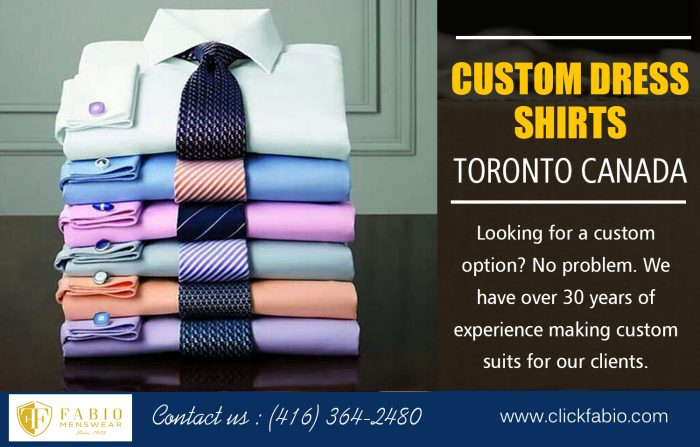 Custom Dress Shirts Toronto Canada | Call – (416) 364-2480 | clickfabio.com