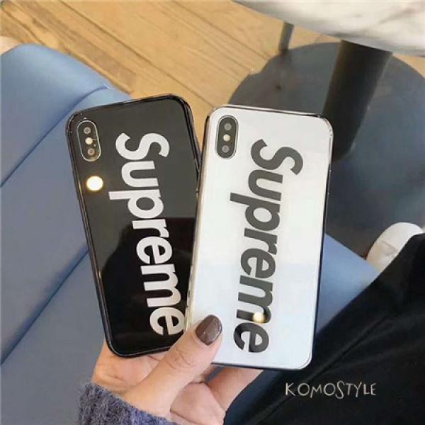シュプリーム iphonex/xs max ケース 鏡面 アイフォンテンエスケース supreme 男女兼用iphonexr/8/7ス ...