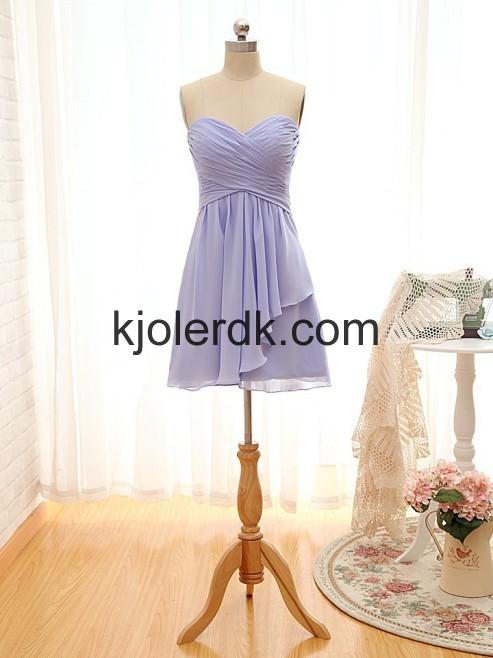 Knæet-længde Kæreste Lavendel Brudepigekjoler