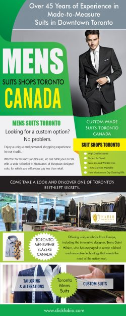 Mens Suits Shops Toronto Canada | Call – (416) 364-2480 | clickfabio.com