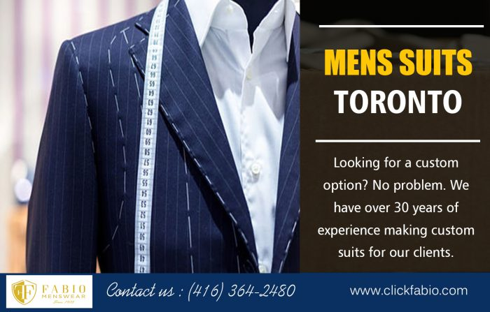 Mens Suits Toronto | Call – (416) 364-2480 | clickfabio.com
