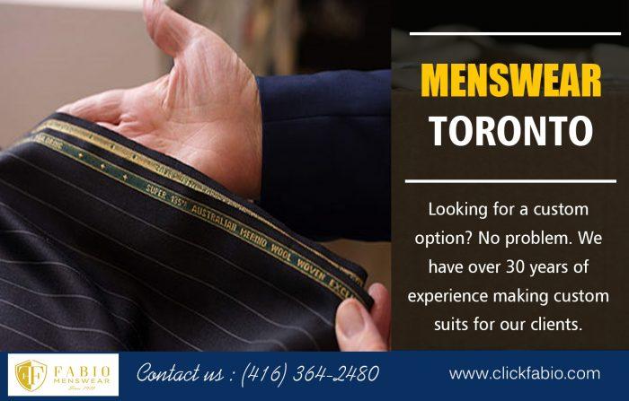 Menswear Toronto | Call – (416) 364-2480 | clickfabio.com