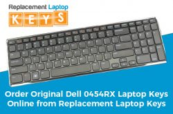 Order Original Dell 0454RX Laptop Keys Online from Replacement Laptop Keys