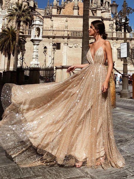 Sexy Abendkleider Pailletten Lang Günstig Abiballkleider Abendmoden Online