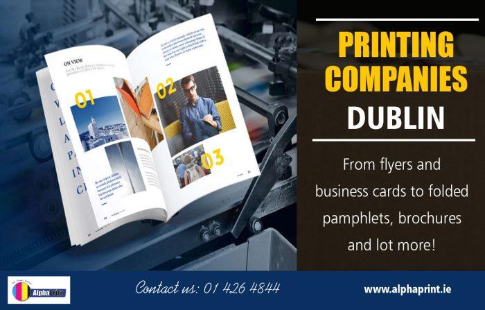 Printing Companies Dublin | Call – 01 426 4844 | alphaprint.ie