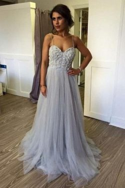 Charming Spaghetti Straps Sweetheart With Beading Prom Dress P662