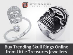 Buy Trending Skull Rings Online from Little Treasures Jewellers