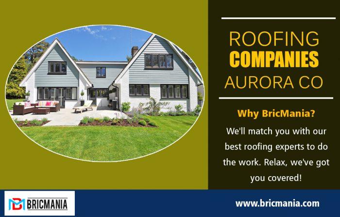 Roofing Companies Aurora Co