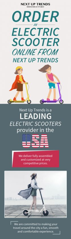 Shop your Favourite Electric Scooters Online from Next Up Trends