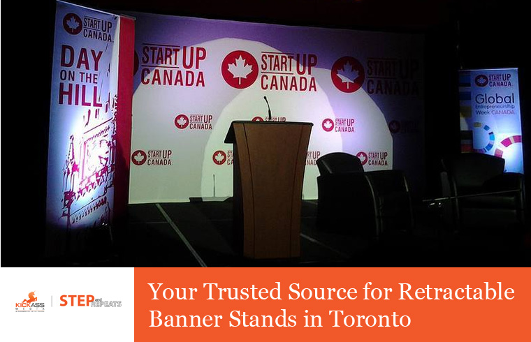 Step and Repeat – Your Trusted Source for Retractable Banner Stands in Toronto