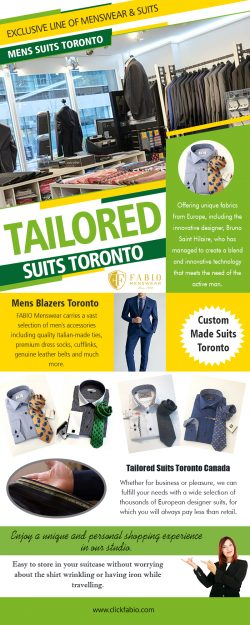 Tailored Suits Toronto | Call – (416) 364-2480 | clickfabio.com