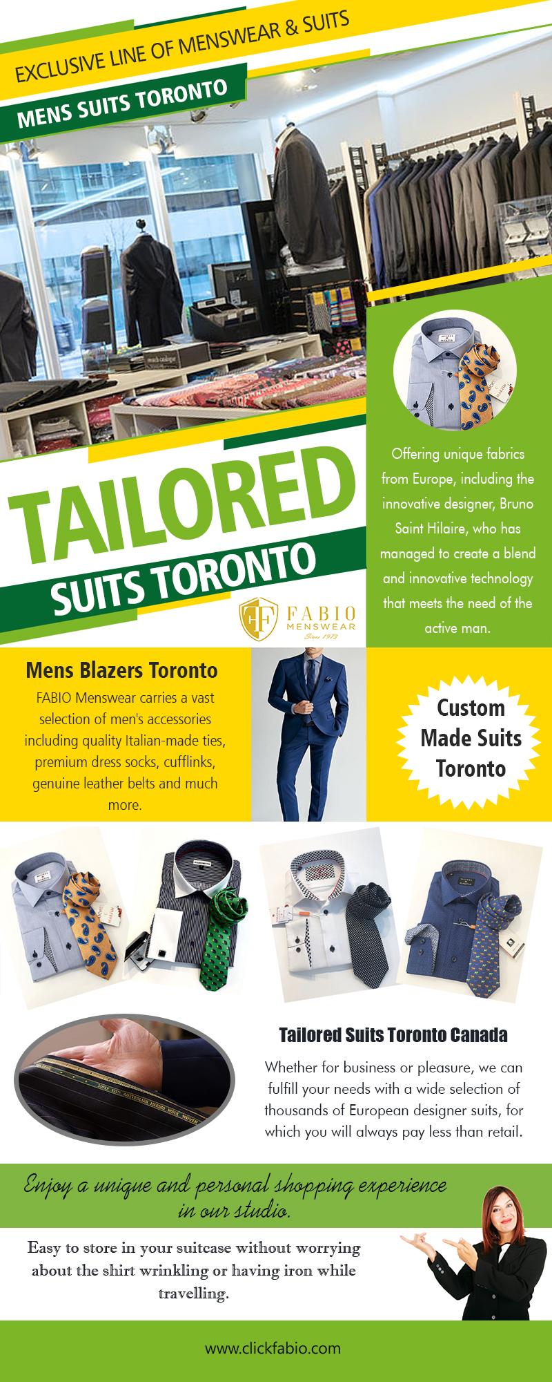 Tailored Suits Toronto | Call – (416) 364-2480 | clickfabio.com