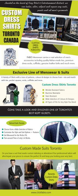 Toronto Custom Dress Shirts | Call – (416) 364-2480 | clickfabio.com