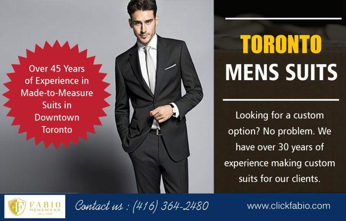 Toronto Mens Suits | Call – (416) 364-2480 | clickfabio.com