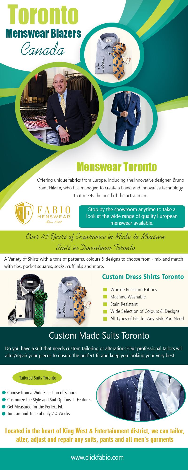 Toronto Menswear Blazers Canada | Call – (416) 364-2480 | clickfabio.com