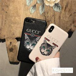 iphoneXケース グッチ 猫 iphone8/8plus 可愛いスマホケース Gucci アイフォン7携帯カバー おしゃれ ip ...