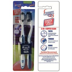 AFL Toothbrush Geelong Cats Twin Pack –