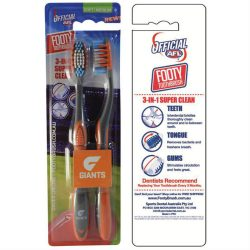 AFL Toothbrush GWS Giants Twin Pack –