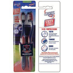 AFL Toothbrush Melbourne Demons Twin Pack