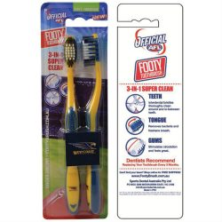 AFL Toothbrush West Coast Eagles Twin Pack –