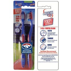 AFL Toothbrush Western Bulldogs Twin Pack –