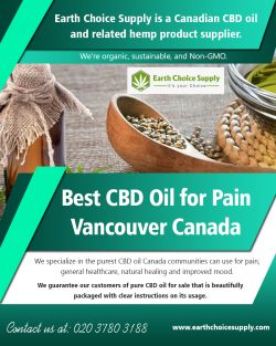 Best CBD Oil for Pain Vancouver Canada | earthchoicesupply.com