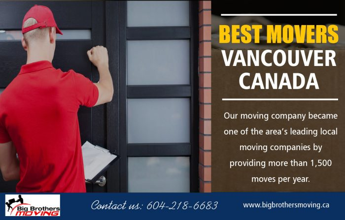 Best Movers Vancouver Canada
